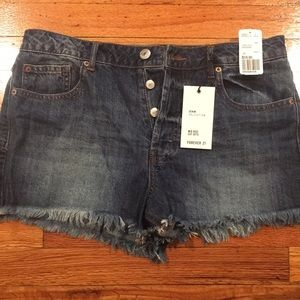 New mid-rise jean shorts